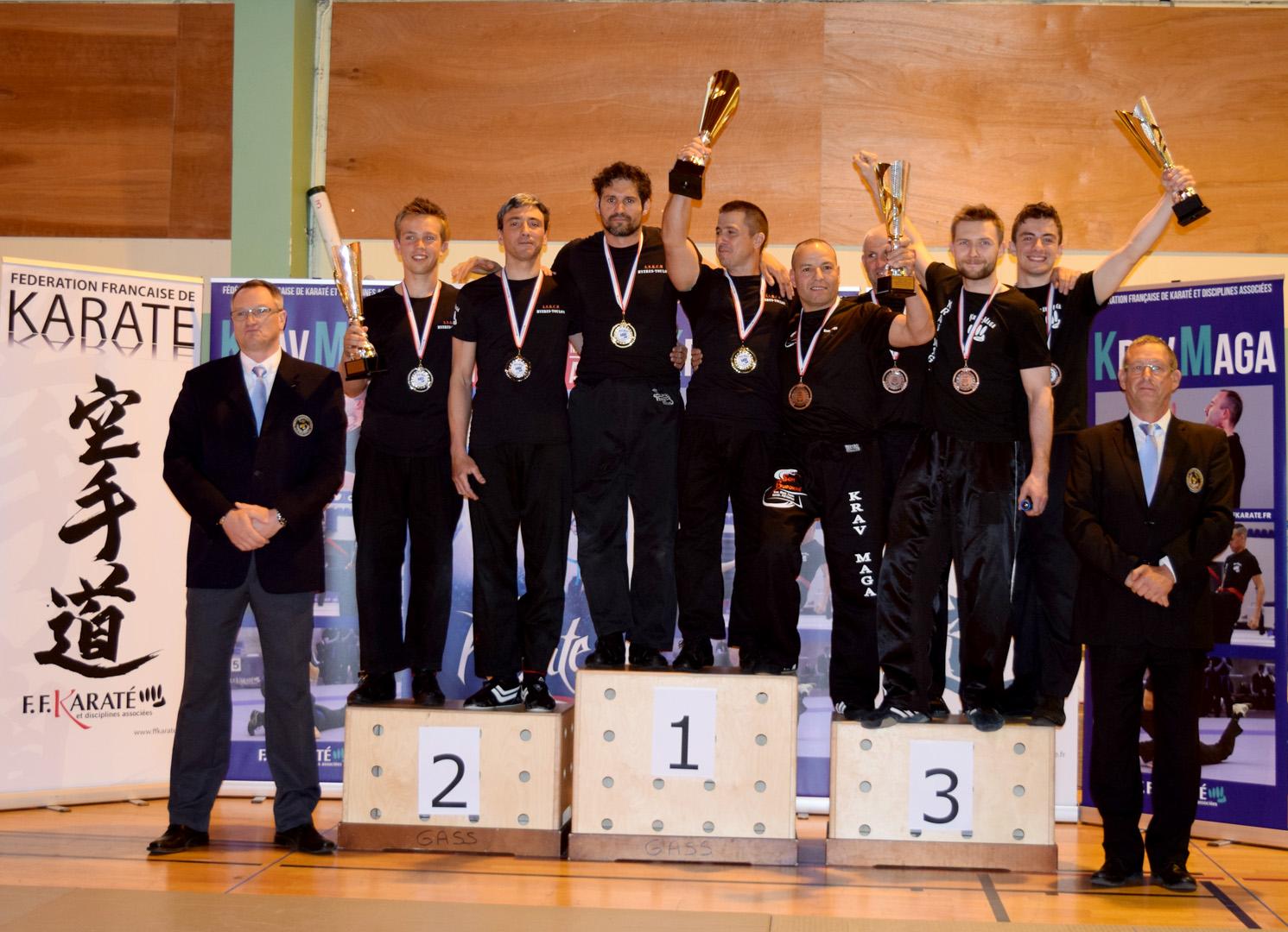 Podium IV Mistrzostw Francji Krav Maga 2016, Robert Budny WSSW Polska