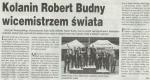 Informacja o sukcesie naszego Wicemistrza Świata Roberta Budnego w tygodniku Przegląd Kolski